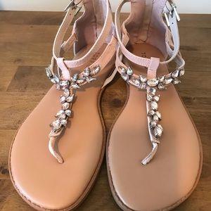 Pink Jeweled Sandals